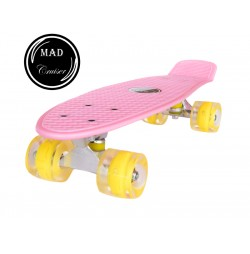 Penny board Mad Cruiser LED ABEC 7 wheels - pink