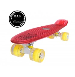 Penny board Mad Cruiser Full Led-rosu