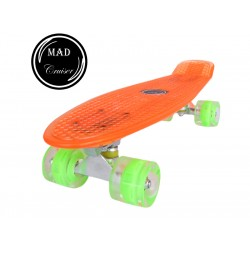 Penny board Mad Cruiser Full Led-oranj