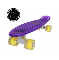Penny board Mad Cruiser Full LED ABEC 7-purple