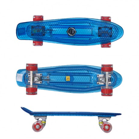 Penny board Mad Cruiser Full Led-albastru