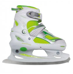Adjustable ice skates Nils NF701A-white / green