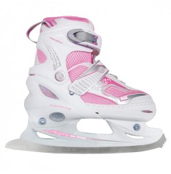 Adjustable ice skates Nils NF701A-white / pink
