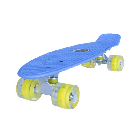 Penny board Mad Cruiser LED ABEC 7 wheels - blue