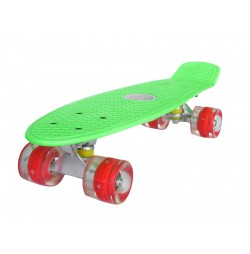 Penny board Mad Cruiser LED ABEC 7 wheels - green