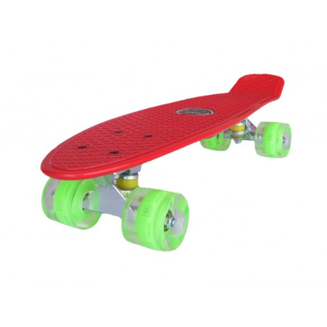 Penny board Mad Cruiser LED ABEC 7 wheels - red