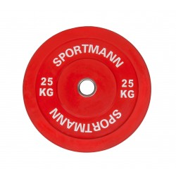 Rubber Bumper Plate SPORTMANN - 25 kg / 51 mm