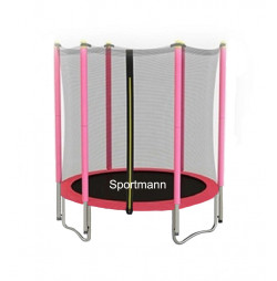 Trampoline and safety net Sportmann 140 cm-pink