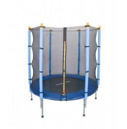 Trambulina si plasa de siguranta Sportmann 140 cm, albastru