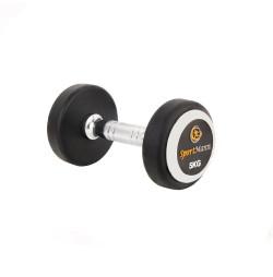 Rubber Dumbbell DELUXE Sportmann 5 kg