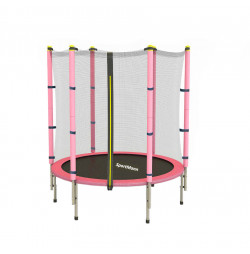 Trampoline and safety net Sportmann Fun 140 cm, pink
