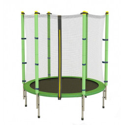 Trampoline and safety net Sportmann Fun 140 cm, green