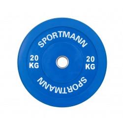 Disc Greutate Cauciuc SPORTMANN - 20 kg / 51 mm