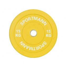 Disc Greutate Cauciuc SPORTMANN - 15 kg / 51 mm