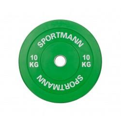 Disc Greutate Cauciuc SPORTMANN - 10 kg / 51 mm