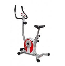 Mágnesfékes szobakerékpár SMART - ezüst/piros